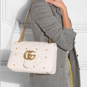 $2450 NEW Gucci gold stud marmont matelasse bag!